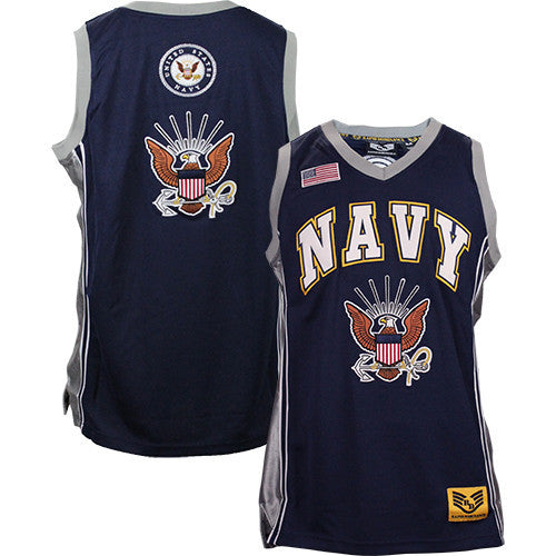 U.S. Navy Basketball Jersey - Size Medium