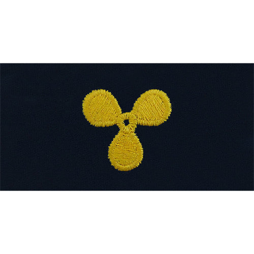 Navy Machinist's Mate Embroidered Coverall Collar Device