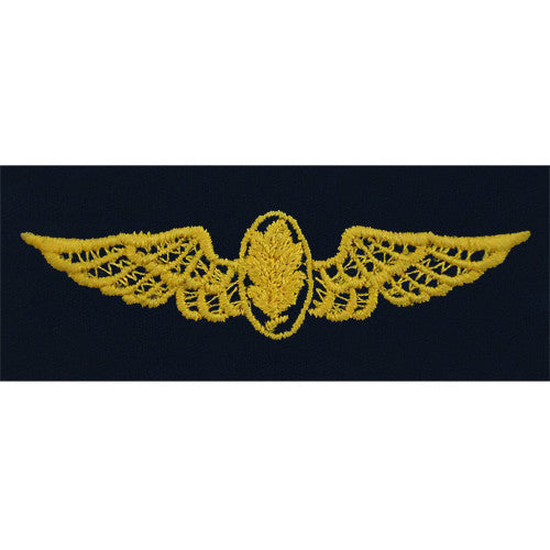 Navy Experimental Psychologist / Aviation Physiologist Embroidered Coverall Breast Insignia