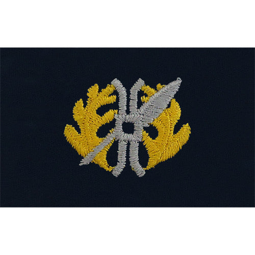 Navy Limited Duty Officer Embroidered Coverall Collar Device