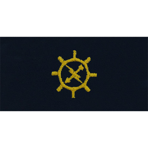 Navy Operations Technician Embroidered Coverall Collar Device