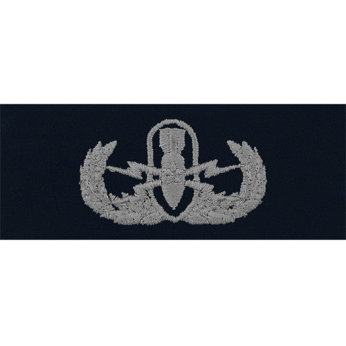 Navy Explosive Ordnance Disposal Warfare Embroidered Coverall Breast Insignia - Senior
