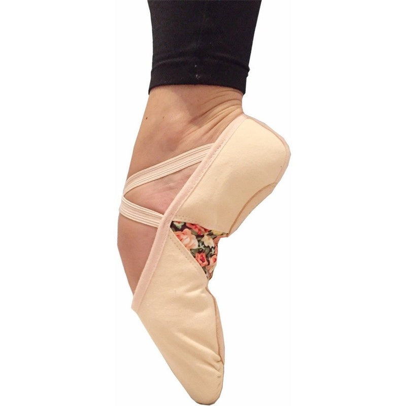 Helen of Troy, Pink Dance/Ballet Shoes for girls. Unique floral print in the arch