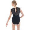 Karen, women's/girls' tank leotard with lace details. Dusty Pink, Grey, Black