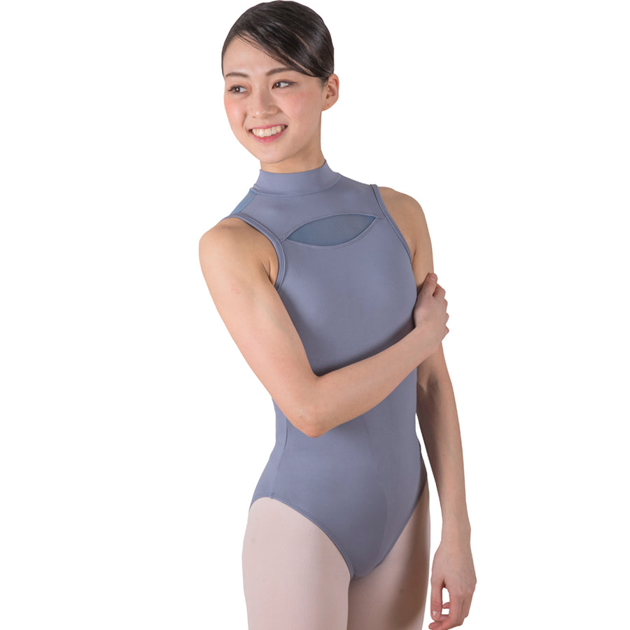 Blanche, women's turtle neck mesh leotard.