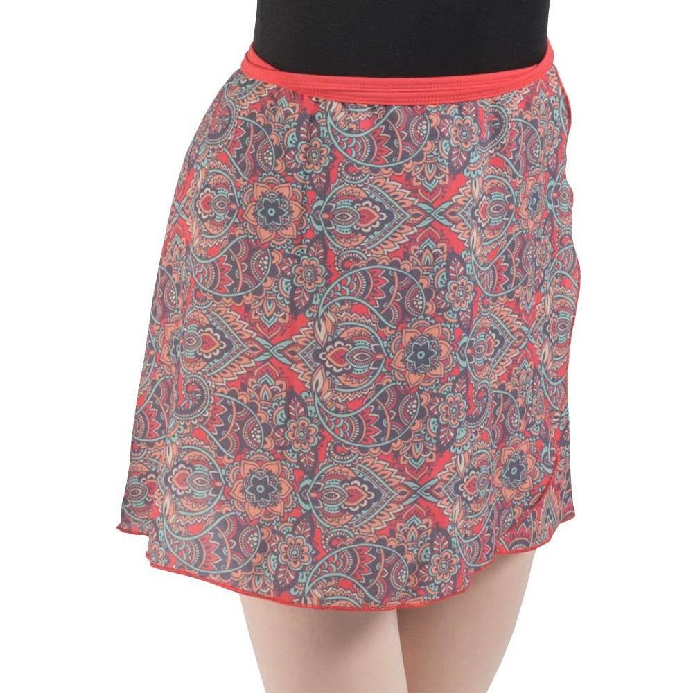 Eden, wrap printed skirt BAW0713
