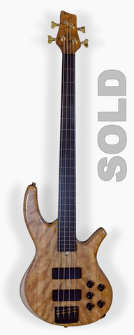Overwater Progress Series IV Fretless 4 (Ser. No. 20-4164)