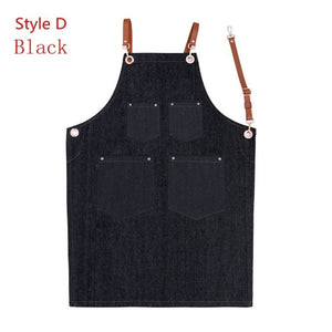 4 Styles Unisex cotton Denim aprons