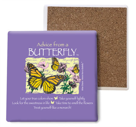 Advice from a Butterfly Coaster Set