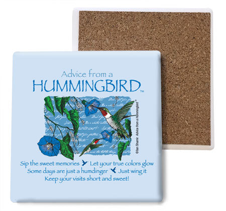 Advice from a Hummingbird Coaster