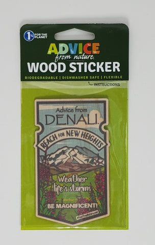 Advice from Denali - Wood Sticker
