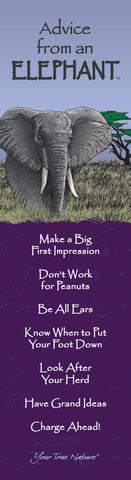 Advice from an Elephant- Laminated Bookmark