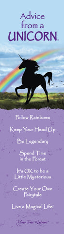 Advice from a Unicorn Laminated Bookmark