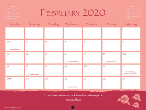 Advice from Nature - 2020 16-Month Wall Calendar