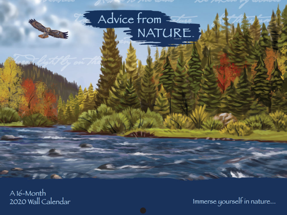 Calendrier Om 2020 16.Advice From Nature 2020 16 Month Wall Calendar Your True