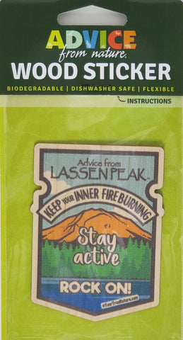 Advice from Lassen Peak - Wood Sticker