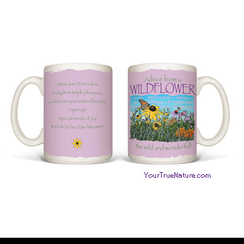 Advice from a Wildflower Mug