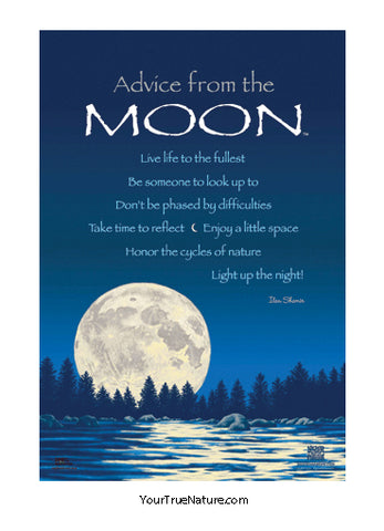 Advice from the Moon Mini Poster