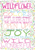 Advice from a Wildflower Greeting Card (Special Artist) - Blank
