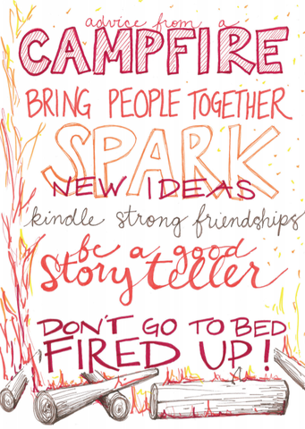 Advice from a Campfire Greeting Card(Special Artist) - Blank