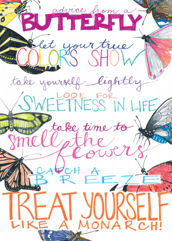 Advice from a Butterfly Greeting Card - Blank