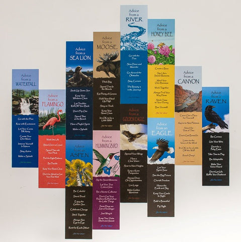 .Best Advice Set You Choose - 12 Assorted Laminated Bookmarks
