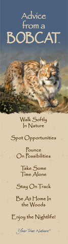 Advice from a Bobcat Laminated Bookmark