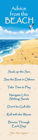 Advice from the Beach Laminated Bookmark