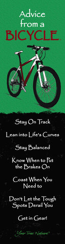 Advice from a Bicycle Laminated Bookmark