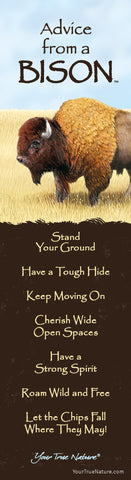 Advice from a Bison Laminated Bookmark