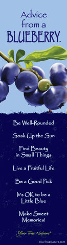 Advice from a Blueberry Laminated Bookmark