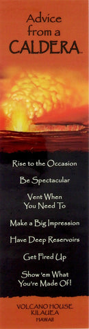 Advice from a Caldera - Laminated Bookmark