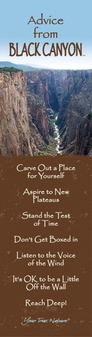 Advice from Black Canyon - Laminated Bookmark