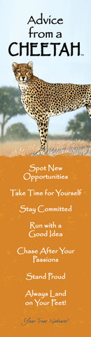 Advice from a Cheetah- Laminated Bookmark