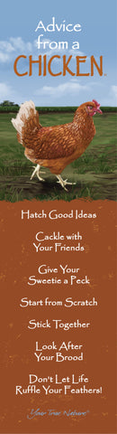 Advice from a Chicken Laminated Bookmark