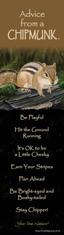 Advice from a Chipmunk Laminated Bookmark