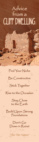 Advice from a Cliff Dwelling Laminated Bookmark