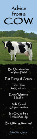 Advice from a Cow Laminated Bookmark