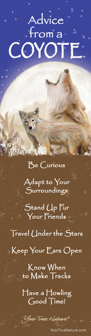 Advice from a Coyote Laminated Bookmark