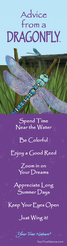 Advice from a Dragonfly Laminated Bookmark