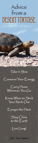 Advice from a Desert Tortoise Laminated Bookmark