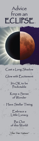 Advice from an Eclipse Laminated Bookmark