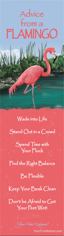 Advice from a Flamingo Laminated Bookmark