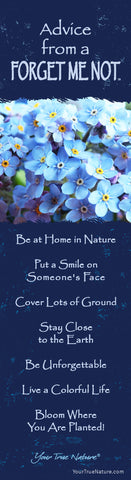 Advice from a Forget Me Not Laminated Bookmark