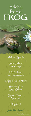 Advice from a Frog Laminated Bookmark