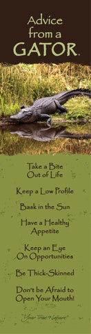 Advice from a Gator- Laminated Bookmark