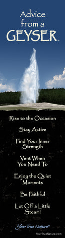 Advice from a Geyser Laminated Bookmark