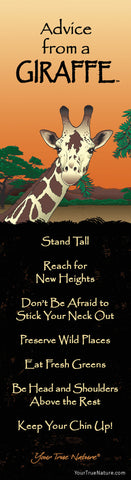 Advice from a Giraffe Laminated Bookmark