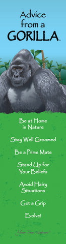 Advice from a Gorilla- Laminated Bookmark