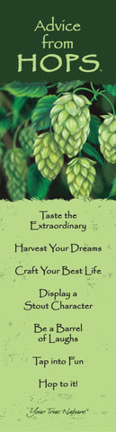 Advice from Hops Laminated Bookmark